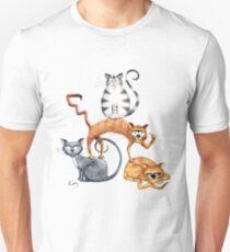 Kazart Cat Stack Tshirt Unisex T-Shirt