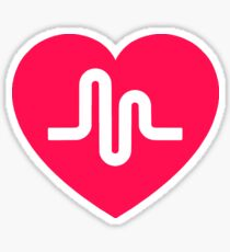Musically musical.ly musicly heart Sticker