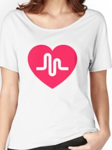 Musically musical.ly musicly heart Women's Relaxed Fit T-Shirt
