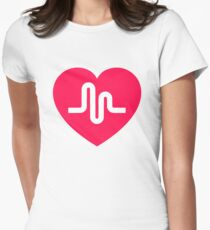 Musically musical.ly musicly heart Womens Fitted T-Shirt