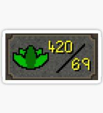 Dank 420/69 skill runescape Sticker