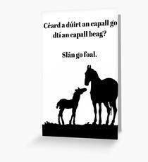 Slán go Fóill Wordplay Greeting Card