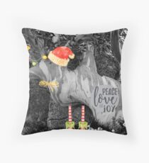 Peace, Love & Joy in Nature Throw Pillow