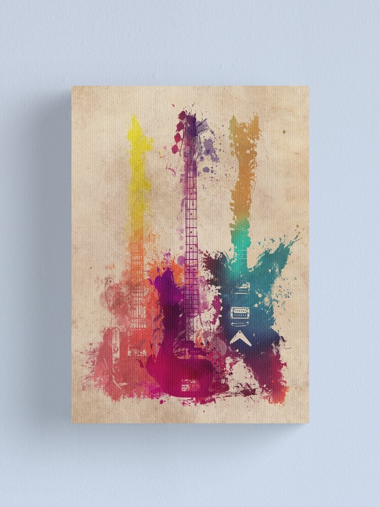 Alternate view of guitars 2 Canvas Print