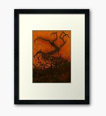 Spooky Halloween Tree Framed Print
