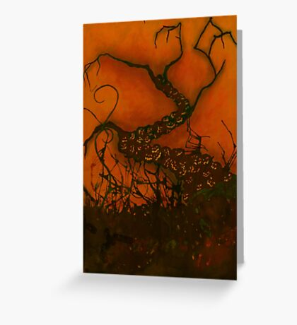 Spooky Halloween Tree Greeting Card