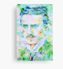NIKOLA TESLA watercolor portrait Metal Print