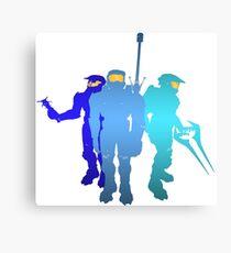 Blue Team Canvas Print