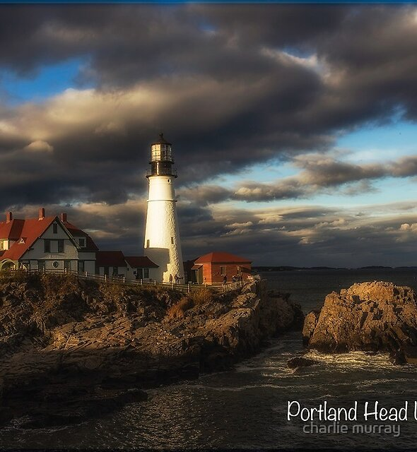 Maine Lighthouse - Portland Head Lighthouse in Afternoon Light by charlie murray