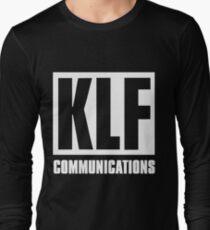 KLF Communications (white bg, black letters) Long Sleeve T-Shirt
