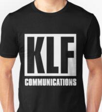 KLF Communications (white bg, black letters) Unisex T-Shirt
