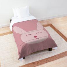 Pink bunny rabbit Comforter