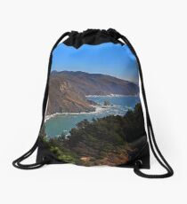 Overlooking Marin Headlands Drawstring Bag