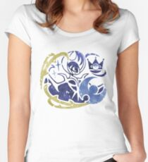 Lunala stamp Women's Fitted Scoop T-Shirt
