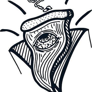 Pizze eye (kite?). by papabaird