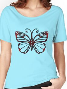 Black Iron Butterfly Women's Relaxed Fit T-Shirt
