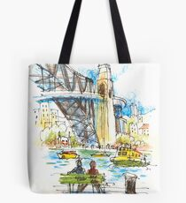 Waiting for the Cockatoo Island ferry Tote Bag