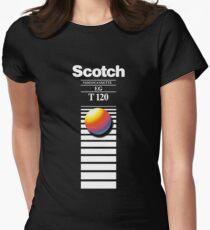Retro VHS tape vaporwave aesthetic Women's Fitted T-Shirt