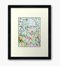 LEONARDO DA VINCI - watercolor portrait Framed Print