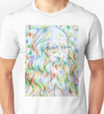 LEONARDO DA VINCI - watercolor portrait Unisex T-Shirt