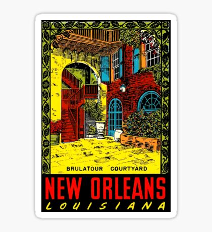 New Orleans Louisiana Vintage Travel Decal Sticker