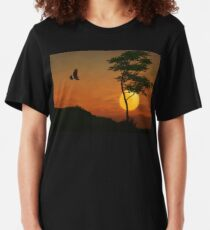 A Hawk In The Sunset Slim Fit T-Shirt