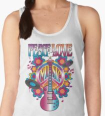 Peace, Love and Music Women's Tank Top