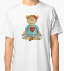 Live Love Yoga Bear in meditation Classic T-Shirt