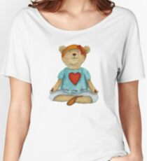 Live Love Yoga Bear in meditation Women's Relaxed Fit T-Shirt