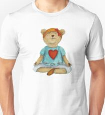 Live Love Yoga Bear in meditation T-Shirt