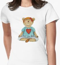 Live Love Yoga Bear in meditation T-Shirt