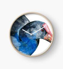 Pukeko Portrait Clock