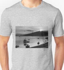 Sunrise over Nissaki - B&W Unisex T-Shirt