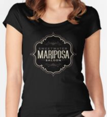 Mariposa Saloon Westworld Women's Fitted Scoop T-Shirt