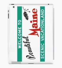 Welcome to Beautiful Maine Road Sign Vintage 80s iPad Case/Skin