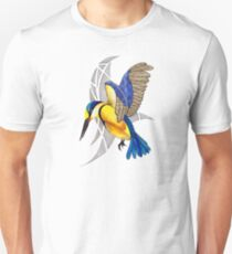 Sacred Kingfisher in flight Unisex T-Shirt