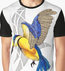 Sacred Kingfisher in flight Graphic T-Shirt