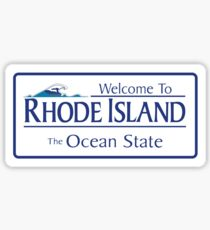 Welcome to Rhode Island The Ocean State, Road Sign, USA Sticker