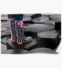 Giants Causeway Spotted Wellies Poster