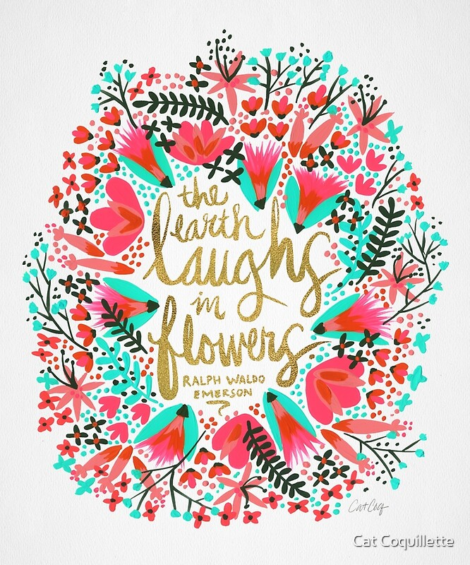 Quot The Earth Laughs In Flowers Pink Amp Gold Quot By Cat