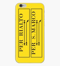Per Rialto, Per San Marco, Venedig-Straßenschild, Italien iPhone-Hülle & Cover