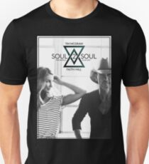 TIM MCGRAW & FAITH HILL SOUL 2 SOUL WORLD TOUR 2017 Unisex T-Shirt