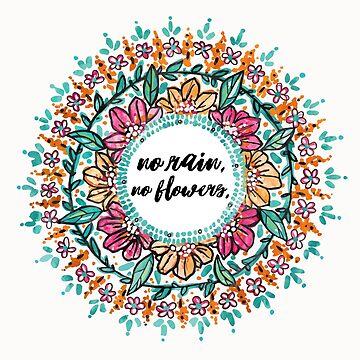"""""""No rain, no flowers"""" Mandala by aterkaderk"""