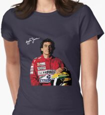 Ayrton Senna Vector Graphic Women's Fitted T-Shirt