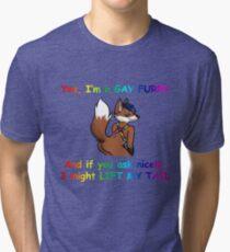 Gay Furry Tri-blend T-Shirt