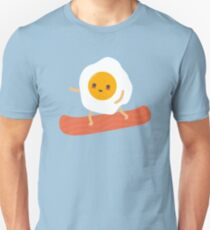 Funny Egg and Bacon Snowboarder T-Shirt