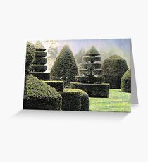 Dawn In A Topiary Garden Greeting Card