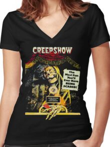 jolting tales of horror Women's Fitted V-Neck T-Shirt