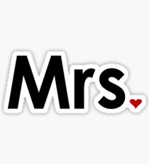 Couple - Mrs. Heart Sticker