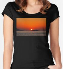 Dodecanese sunset Women's Fitted Scoop T-Shirt